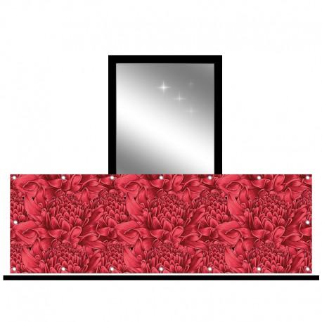 Osłona balkonowa jednostronna - Różany ogród