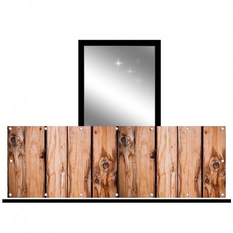 Osłona balkonowa jednostronna - Surowe deski