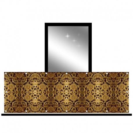 Osłona balkonowa jednostronna - Złoty ornament
