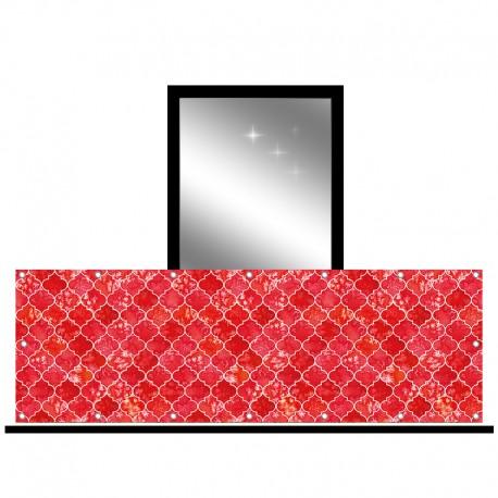 Osłona balkonowa jednostronna - Czerwona mozaika