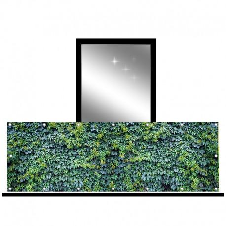 Osłona balkonowa jednostronna - Ogrodowy bluszcz