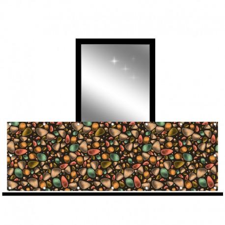 Osłona balkonowa jednostronna - Kolorowe kamienie