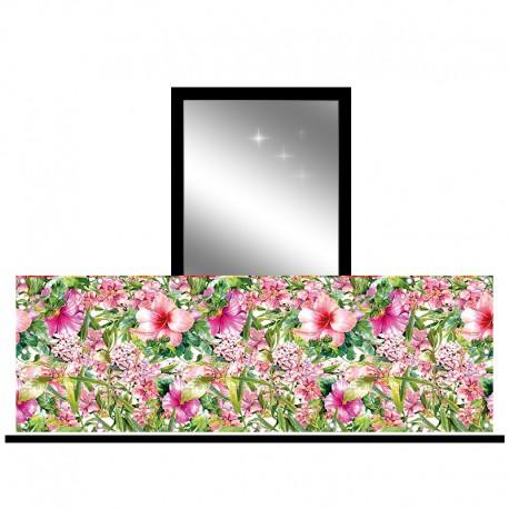 Osłona balkonowa jednostronna - Różowy ogród