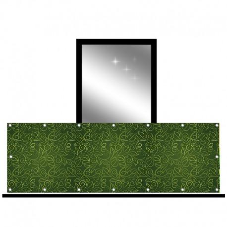 Osłona balkonowa jednostronna - Liściasty wzór