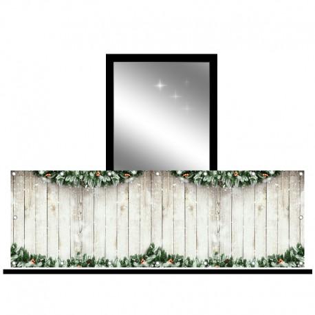 Osłona balkonowa jednostronna - Świąteczne girlandy