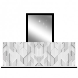 Osłona balkonowa jednostronna - Kafelki 3D