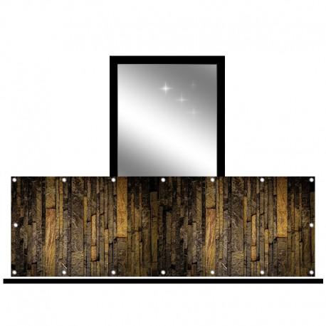 Osłona balkonowa jednostronna - Ciemny kamień