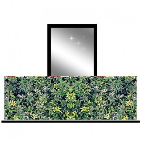 Osłona balkonowa jednostronna - Zielone krzewy
