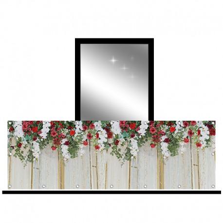 Osłona balkonowa jednostronna - Storczyki i róże