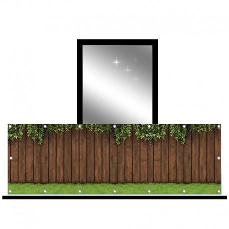 Osłona balkonowa jednostronna - Płot z liśćmi