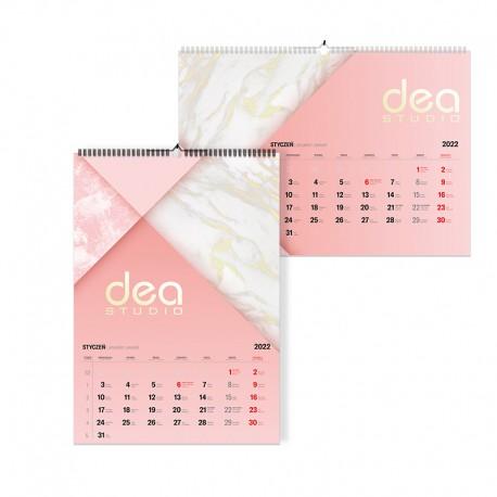 Kalendarze spiralowane A3 pion lub poziom 1+6 kart dwustronnych (210x297mm)