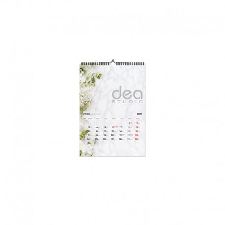 Kalendarze spiralowane A4 pion 1+12 kart jednostronnych (210x297mm)