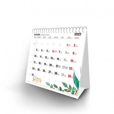 Kalendarz piramidka spiralowany - miesięczny z indywidualnym kalendarium