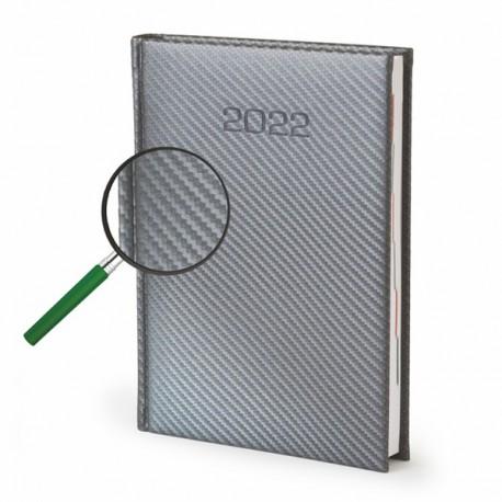 Kalendarze książkowe A5 Karbon dzienny z tłoczeniem