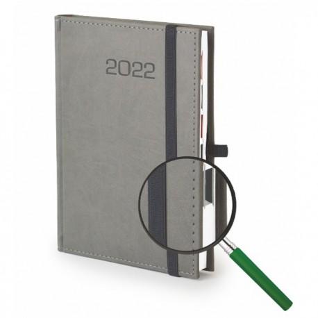 Kalendarze książkowe A5 Vivella z gumką, dzienny z tłoczeniem