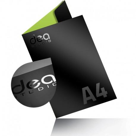 Teczki A4 lakier wybiórczy UV + folia mat